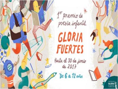 1 Premio de Poesía Infantil Gloria Fuertes | Hasta el 30 de junio de 2017 | Para niñas y niños de 6 a 12 años | Ayuntamiento de Madrid | Centenario Gloria Fuertes