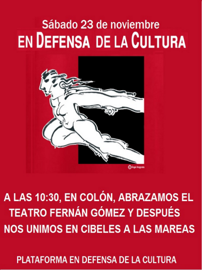 Abraza el Teatro - Marea en Defensa de la Cultura - 23-11-13
