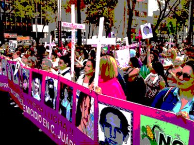 Manifestación en México D.F. contra los asesinatos en Ciudad Juárez