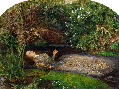 Ofelia (1852) | John Everett Millais | Tate Britain, Londres (R.U.)