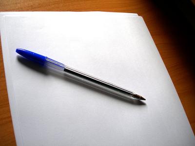 Un papel en blanco donde expresarme