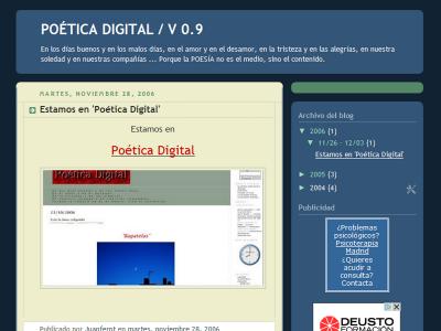 Poética Digital | V 0.9