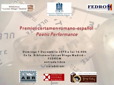 Entrega de Premios del Concurso Rumano-Español de Poesía 2013
