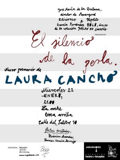 Presentación de 'El silencio de la perla' de Laura Cancho en Amargord Ediciones