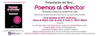 Presentación de 'Poemas al director. 68 miradas críticas en tiempos de crisis'