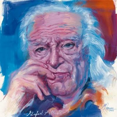 Rafael Alberti | Óleo sobre papel de Manolo Pardo (2005)