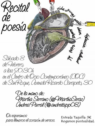Recital de poesía de Andrea Puebla Parral y Martha Serrano | 08-02-2014