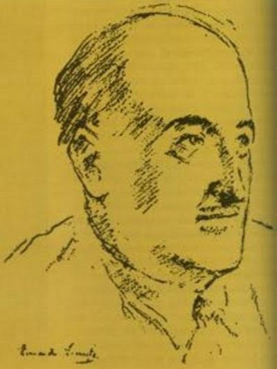 Vicente Aleixandre | Dibujo de Eduardo Vicente
