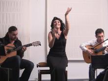 Ángela Muro con Miguel Corral 'Corralito' y Mario Gutiérrez