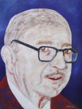 Dámaso Alonso | Óleo sobre tela de Juan Antonio Galindo Martín (2009)