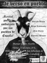 'De verso en pueblo' en San Sebastián de los Reyes | 31-01-2014 | Cartel de Irene Domínguez