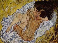 El abrazo (1917) de Egon Schiele