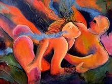 Los amantes | Obra original de Gabriel Nieto Nieto