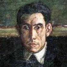 Mauricio Bacarisse | Detalle de ´La tertulia del Café de Pombo' de José Gutiérrez Solana (1920)