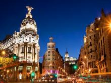 Noche de diciembre en Madrid