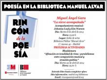 Poesía en la Biblioteca Manuel Alvar | Miguel Ángel Gara