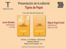 Presentación de la Editorial Tigres de Papel en Matadero Madrid