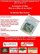 Presentación de 'Perú en el roce de tus labios' de Antonio Ruiz Pascual