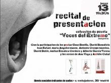 Recital de presentación de la Colección Voces del Extremo de Amargord Ediciones